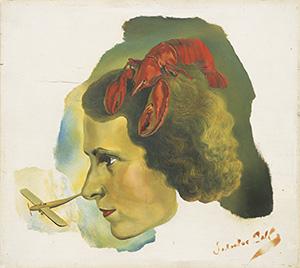 写真:サルバドール・ダリ《ガラとロブスターの肖像》1934年頃 ©Salvador Dali, Fundacio Gala-Salvador Dali, JASPAR, Tokyo, 2014 E1402