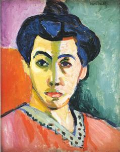 アンリ・マティス 《緑のすじのある女:マティス夫人の肖像》1905年