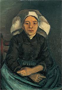ヴィンセント・ファン・ゴッホ 《座る農婦》 1884-1885年 油彩・カンヴァス・板 諸橋近代美術館 所蔵